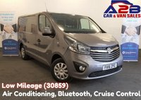2016 VAUXHALL VIVARO 1.6 CDTI SPORTIVE 2700 115 BHP with Low Mileage (30859) 3 Seats, Air Conditioning, Bluetooth, Cruise Control, Rear Parking Sensors, DAB Radio, Ply Lined, Front Fog Lights £10980.00