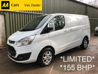 USED 2014 64 FORD TRANSIT CUSTOM 2.2 TDCi 270 LIMITED 155 BHP *FULL FORD HISTORY*