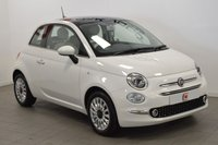 USED 2018 67 FIAT 500 1.2 LOUNGE DUALOGIC 3d AUTO 69 BHP 1 OWNER + AUTOMATIC + ONLY 8K MILES + WHITE WITH PAN ROOF !!
