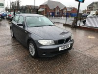 USED 2006 06 BMW 1 SERIES 2.0 118I ES 5d AUTO 128 BHP AUTOMATIC-FULL SERVICE HISTORY-LEATHER-5 DOOR-ALLOYS-CD PLAYER-BLUETOOTH