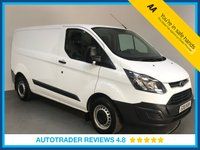 USED 2018 18 FORD TRANSIT CUSTOM 2.0 290 LR P/V 1d 104 BHP EURO 6 COMPLIANT - ONE OWNER - BLUETOOTH - PLY LIND - SIDE LOADING DOOR - 6 SPEED - AUX