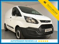 USED 2018 18 FORD TRANSIT CUSTOM 2.0 290 LR P/V 1d 104 BHP EURO 6 COMPLIANT - ONE OWNER - BLUETOOTH - PLY LINED - SIDE LOADING DOOR - 6 SPEED - AUX/USB