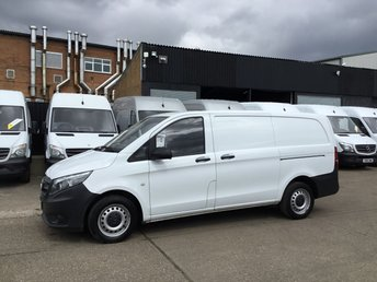 2015 MERCEDES-BENZ VITO 1.6 111CDI LONG 114BHP NEW SHAPE. LOW 50,000 MILES. 1 OWNER £8350.00
