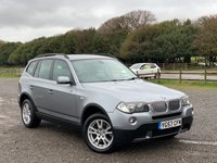 USED 2007 57 BMW X3 XDrive 3.0 30d SE Auto 5dr   2 X KEYS, DARK GREY POPLAR WOOD INTERIOR, SATELITE NAVIGATION, BLUE-TOOTH, CD-CHANGER, REMOTE LOCKING, ALLOY WHEELS, AIR-CONDITIONING, PARKING SENSORS, RAIN SENSOR, AUTO-LIGHTS, ELECTRIC WINDOWS, ROOF RAILS, ELECTRIC MIRRORS, AUTOMATIC,
