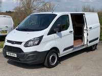 USED 2016 16 FORD TRANSIT CUSTOM 2.2 290 LR P/V 1d 125 BHP Long Wheel Base, 125 BHP, Bluetooth Phone Connection.