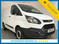 USED 2018 18 FORD TRANSIT CUSTOM 2.0 290 LR P/V 1d 104 BHP EURO 6 - 1 OWNER - HISTORY - BLUETOOTH - AUX / USB - PLY LINED - 6 SPEED
