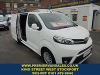 USED 2018 18 TOYOTA PROACE 2.0 HDI 120 BHP COMFORT ( EURO 6 ) LONG WHEEL BASE, ONLY 3,500 MILES, MAIN DEALER WARRANTY TILL 11 - 07 - 2023 (( FINANCE AVAILABLE ))) !! FINANCE AVAILABLE !!! WWW.PREMIERVANSALES.CO.UK 0161 429 8644