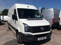 USED 2016 16 VOLKSWAGEN CRAFTER LWB 2.0 CR35 TDI H/R 135 BHP 1 OWNER FSH NEW MOT AIR CON MANUFACTURERS WARRANTY AIR CONDITIONING EURO 5 SPARE KEY ELECTRIC WINDOWS AND MIRRORS EURO 5 6 SPEED BLUETOOTH CRUISE CONTROL