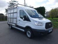 USED 2014 14 FORD TRANSIT 290 L2 H2 MWB MEDIUM HIGH 2.2TDCI 100 BHP Aluminium Glass / Window Frail & Roof Rack, Sensible Miles With F/S/H Very Clean Example! Choice Of Two
