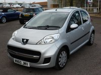 USED 2010 60 PEUGEOT 107 1.0 URBAN 5d 68 BHP £20 RFL A fantastic  service history, including lots of receipts, looked after by its previous owner, fitted with mudflaps and rubber mats.