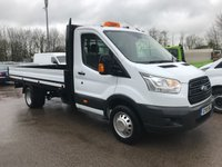 2015 FORD TRANSIT 350 125PS EXTRA LWB FACTORY EF DROPSIDE PICKUP £12995.00