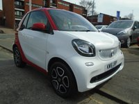 USED 2016 16 SMART FORTWO CABRIO 1.0 PRIME 2d AUTO 71 BHP 14,000 MILES, HEATED SEATS