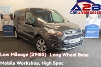 USED 2016 16 FORD TRANSIT CONNECT 1.6 TDCi 240 LIMITED 115 BHP with Low Mileage (21480) Mobile Workshop, Long Wheel Base, Air Conditioning, Bluetooth, Cruise Control, Rear Parking Sensors, 16