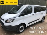USED 2015 15 FORD TRANSIT CUSTOM 9 Seat Mini Bus 2.2 330 TDCI 124 BHP *AIR CON*
