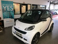 USED 2009 59 SMART FORTWO CABRIO 1.0 BRABUS 2d AUTO 97 BHP Only 26708 miles, Finished in black and white two tone with panoramic roof and fitted with black full leather heated seats, Pioneer touch screen satellite navigation bluetooth phone, panoramic glass roof,  air conditioning, grey alloys, electric windows and much more. Its so economical with 60 + MPG. It has been serviced by Mercedes at Colindale at 5478/8538/11116/14493/16357/19636 and then independently at 24014 miles It will be supplied with a 6 month RAC warranty with roadside assist.