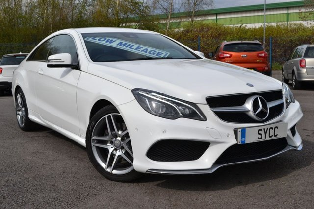 USED 2015 65 MERCEDES-BENZ E CLASS 2.1 E220 BLUETEC AMG LINE 2d COUPE AUTO 174 BHP FULL MERCEDES SERVICE RECORDS ~ HEATED LEATHER ~ SAT NAV ~ 6 MONTHS WARRANTY
