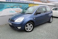 USED 2005 55 FORD FIESTA 1.2 ZETEC 3d 74 BHP PETROL BLUE GOOD SERVICE HISTORY + CAMBELT REPLACED