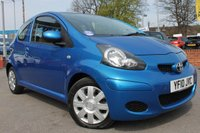 USED 2010 10 TOYOTA AYGO 1.0 BLUE VVT-I 3d 67 BHP LOW MILES - LOW OWNERS - LOW TAX - CHEAP TO RUN