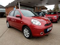 USED 2012 62 NISSAN MICRA 1.2 ACENTA 5d 79 BHP LOW MILES,TWO KEYS,AIR CON,SAT NAV,BLUETOOTH,USB AND AUX PORT