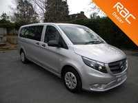 USED 2016 16 MERCEDES-BENZ VITO 2.1 114 BLUETEC TOURER PRO 5d 136 BHP Full Leather, 9 Seats, Cruise Control, Bluetooth, Air Con, Rear Parking Sensors