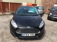 USED 2015 64 FORD FIESTA 1.2 ZETEC 3d 81 BHP Only £30 Road Tax & 28,000 Miles, Ford Bluetooth, Service History, 12 Mths Mot