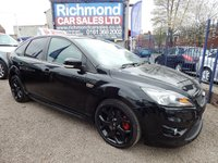 USED 2008 58 FORD FOCUS 2.5 ST-3 5d 223 BHP BLACK LEATHER RECARO SPORTS SEATS, F.S.H, VERY CLEAN CAR