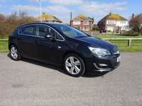 2015 VAUXHALL ASTRA 1.6 SRI 5 Dr 113 BHP, 1 OWNER ONLY 10800 MILES BLACK £8495.00