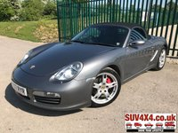 USED 2007 07 PORSCHE BOXSTER 3.4 987 S 2DR CONVERTIBLE CONVERTIBLE. STUNNING GREY MET WITH FULL BLACK LEATHER TRIM. HEATED SEATS. PORSCHE ACTIVE SUSPENSION MANAGEMENT. SPORT SHIFTER. CRUISE CONTROL. 18 INCH ALLOYS. COLOUR CODED TRIMS. PARK ASSIST. CLIMATE CONTROL. SOUND PACKAGE PLUS. R/CD PLAYER. SPORT LEATHER STEERING WHEEL. MOT 04/20. SERVICE HISTORY. SUV & 4X4 CAR CENTRE LS23 7FR. TEL 01937 849492. OPTION 2