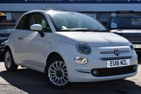 USED 2016 16 FIAT 500 1.2 LOUNGE 3d 69 BHP THE CAR FINANCE SPECIALIST