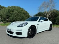 USED 2013 PORSCHE PANAMERA 3.0 D V6 TIPTRONIC 5d AUTO 250 BHP FACELIFT CAR WITH FSH IN WHITE WITH BLACK LEATHER AND BLACK ALLOYS