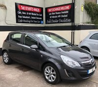 USED 2012 12 VAUXHALL CORSA 1.2 ACTIVE AC 5DR 85 BHP, LOW INSURANCE 12 MONTHS MOT, GREAT MPG, AIR CON