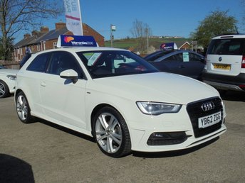 2013 AUDI A3 2.0 TDI S LINE 3d 150 BHP * 1 OWNER* HALF LEATHER* STUNNING IN WHITE*  £9950.00