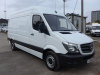 2016 MERCEDES-BENZ SPRINTER 313 CDI MWB HI ROOF, 130 BHP [EURO 5], LOW MILES £11995.00