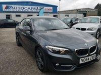 USED 2014 64 BMW 2 SERIES 2.0 220D SPORT 2d 181 BHP