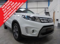 """USED 2015 15 SUZUKI VITARA 1.6 SZ5 5d 118 BHP Full Service History, Satellite Navigation, Panoramic Tilt and Slide Sunroof, Bluetooth Phone and Media Streaming, Adaptive Cruise Control, Front and Rear Parking Sensors with Rear Camera, DAB/BT/USB/SD Card, Auto Lights and Wipers, Voice Commands, Power Fold Mirrors, Keyless Entry and Start, 17"""" Alloys"""