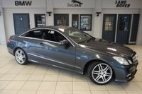 USED 2011 60 MERCEDES-BENZ E CLASS 2.1 E250 CDI BLUEEFFICIENCY SPORT 2d 204 BHP FINISHED IN STUNNING TENORITE GREY WITH FULL BLACK LEATHER SEATS + EXCELLENT SERVICE HISTORY + 18 INCH ALLOYS + HEATED FRONT SEATS + PARKING SENSORS + AIR CONDITIONING