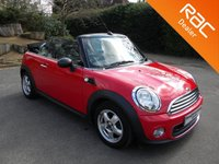 USED 2011 11 MINI CONVERTIBLE 1.6 ONE 2d 98 BHP Fun Little Convertible! Low Miles For Year! Rear Parking Sensors, DAB Radio, Air Con