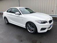 2017 BMW 2 SERIES 2.0 218D M SPORT COUPE AUTO 148 BHP £19495.00