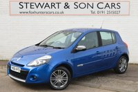 USED 2011 61 RENAULT CLIO 1.2 DYNAMIQUE TOMTOM 16V 5d 75 BHP PETROL CHEAP TAX LOW MILEAGE