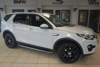 USED 2015 15 LAND ROVER DISCOVERY SPORT 2.2 SD4 HSE 5d 190 BHP FINISHED IN STUNNING YULONG WHITE WITH FULL BLACK LEATHER SEATS + FULL SERVICE HISTORY + SATELLITE NAVIGATION + PANORAMIC ROOF + REVERSE CAMERA + 19 INCH ALLOYS + HEATED FRONT SEATS + XENON HEADLIGHTS + 7 SEATER + DAB RADIO + BLUETOOTH + 6-WAY DRIVER SEATS ADJUSTMENT + ELECTRIC TAILGATE