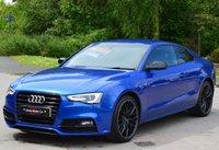 USED 2016 16 AUDI A5 2.0 TDI BLACK EDITION PLUS 3d AUTO 190 BHP ** SEPANG BLUE ** ** SAT NAV **
