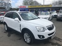 2013 VAUXHALL ANTARA 2.2 SE NAV CDTI 5 DOORS AUTO 181 BHP IN WHITE LOW MILEAGE NAV FULL SERVICE HISTORY GREAT CONDITION £7799.00