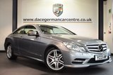 USED 2013 13 MERCEDES-BENZ E CLASS 2.1 E220 CDI BLUEEFFICIENCY SPORT 2DR 170 BHP full service history FINISHED IN STUNNING PALLADIUM METALLIC SILVER WITH FULL LEATHER INTERIOR + FULL SERVICE HISTORY + SATELLITE NAVIGATION + BLUETOOTH + CRUISE CONTROL + HEATED SEATS + LUMBAR SUPPORT + DUAL CLIMATE CONTROL + AUTO STOP/START + FRONT & REAR PARKING SENSORS + ELECTRIC FOLDING MIRRORS + AUTO LIGHTS + 18 INCH ALLOY WHEELS