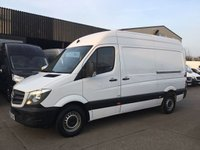 USED 2016 66 MERCEDES-BENZ SPRINTER 2.1 314CDI MWB HIGH ROOF 140BHP EURO 6. MERC WARRANTY. EURO 6. MERCEDES WARRANTY 26.9.2019. FINANCE. PX