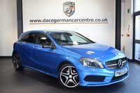 USED 2015 65 MERCEDES-BENZ A-CLASS 2.1 A200 CDI AMG NIGHT EDITION 5DR AUTO 134 BHP FINISHED IN STUNNING SOUTH SEA METALLIC BLUE WITH HALF BLACK LEATHER INTERIOR + SATELLITE NAVIGATION + BLUETOOTH + REVERSE CAMERA + CRUISE CONTROL + PRIVACY GLASS + BI-XENON HEADLIGHTS + AUTO STOP/START + AMG SPORT PACKAGE + MULTI FUNCTION STEERING WHEEL + AMG STYLING PACKAGE + 18 INCH ALLOY WHEELS