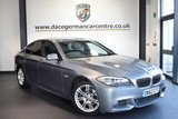 USED 2012 62 BMW 5 SERIES 2.0 520D M SPORT 4DR AUTO 181 BHP FINISHED IN STUNNING SPACE METALLIC GREY WITH FULL BLACK LEATHER INTERIOR + BLUETOOTH + CRUISE CONTROL + M SPORT PACKAGE + HEATED SPORT SEATS + PARKING SENSORS + AUTO STOP/START + DAYTIME RUNNING LIGHTS + DUAL CLIMATE CONTROL + 18 INCH ALLOY WHEELS