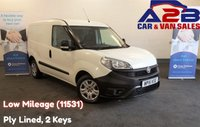 2015 FIAT DOBLO 1.3 16V MULTIJET with Very Low Mileage (11531) 2 Keys, Ply Lined, Sliding Door, Electric Windows, CD Player £5480.00