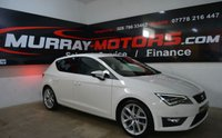 USED 2014 SEAT LEON 2.0 TDI FR TECHNOLOGY 5DOOR 184 BHP CANDY WHITE