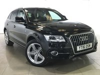 USED 2016 16 AUDI Q5 2.0 TDI QUATTRO S LINE PLUS 5d AUTO 187 BHP 1 OWNER | SAT NAV | LEATHER |