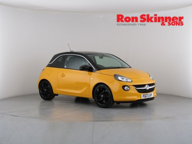 View our 2017 17 VAUXHALL ADAM 1.4 SLAM 3d 98 BHP with Technical Pack + 17in Alloys + Black Roof